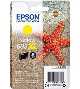 Cartucho tinta amarillo Epson 603xl - 4ml - estrella mar - compatible según C13T03A44010 - EPS-C13T03A44010