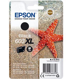 Cartucho tinta negro Epson 603xl - 8.9ml - estrella mar - compatible según C13T03A14010 - EPS-C13T03A14010