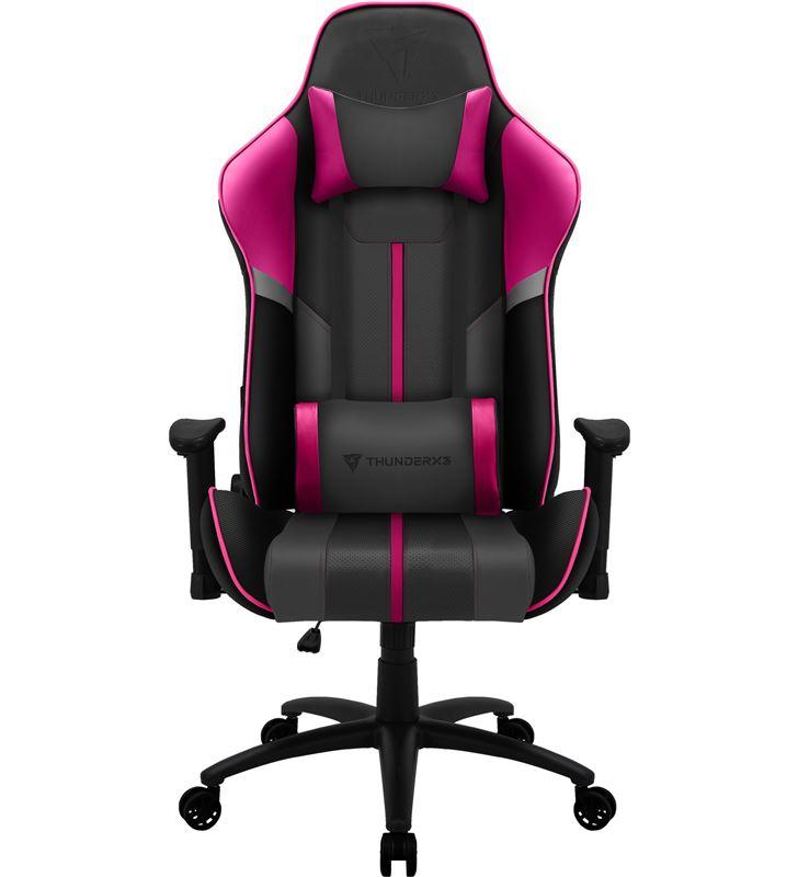 Silla gamer Thunderx3 bc3 boss fuchsia grey pink - marco acero - resposabra BC3BOSSFU - TAC-SILLA BC3BOSSFU