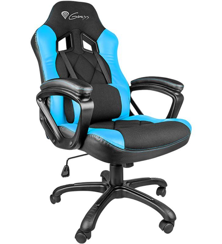 Sihogar.com silla gamer génesis nitro 330 black/blue - reposabrazos no ajustable - rued nfg-0782 - GENS-SILLA NFG-0782
