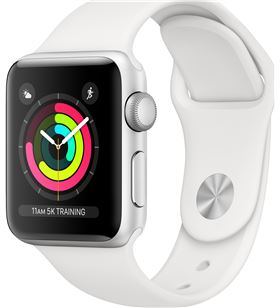 Apple watch 3 MTEY2QL/A gps 38mm aluminio correa blanca - MTEY2QLA