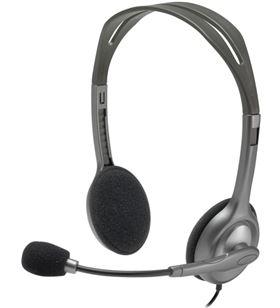 Auriculares diadema con micrófono Logitech h111 - cómodos y reversibles - c 981-000593 - LOG-AUR 981-000593