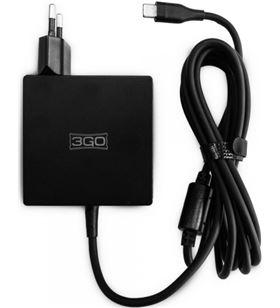 Cargador de pared 3go ALIM65TC para smartphone móvil (5v) / portátil (19v) - 3GO-CAR ALIM65TC