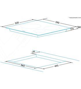 Edesa placa vitrocerámica inducción eim-6330 b Placas induccion - EIM-6330 B