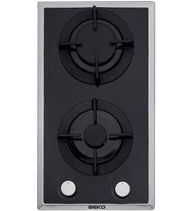Beko HDMS32220FX - placa de gas cristal negro 30 cm 2 fuegos - HDMS32220FX