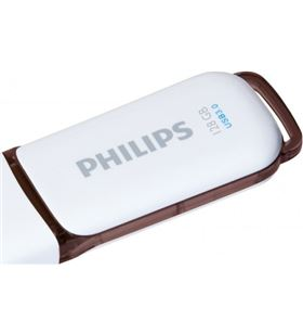 Philips FM12FD75B pen drive 3.0 snow 128gb blanco/marrón - 4895185602622