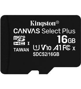 Mem micro sdhc 16gb Kingston canvas select+adapt SDCS2/16GB-3P1A - A0028779