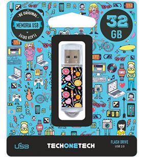 Candy tot- pop 32gb pendrive tech one tech pop 32gb usb 2.0 tec4001-32 - 8436546592105
