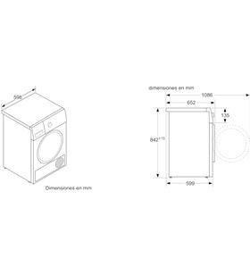 Bosch bosck secadora de condensación wtr87641es clase a+++, 8kg 1000rpm - WTR87641ES