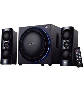 Altavoces 2.1 Woxter big bass 500r - 150w - subwoofer - luces leds - bt 4.0 SO26-057 - 8435089025774