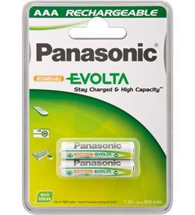 Pack 2 pilas recargables Panasonic aaa 750 mah HHR4MVE2BC - 5410853045267