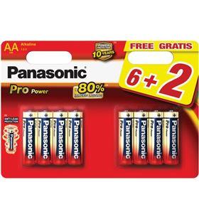 Pack 6+2 pilas alc. Panasonic propower lr03(aaa) PANLR03PPG_8BP - 5410853039969