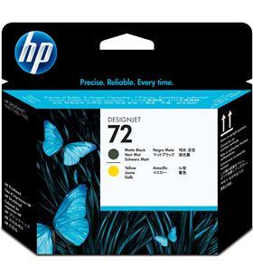 Cartucho de tinta negro mate y amarillo Hp nº72 para designjet t1100/t1100p C9384A - C9384A