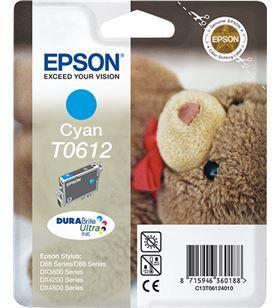 Cartucho tinta cian pigmentado Epson 250 páginas t0612 - osito de peluche C13T06124010 - EPS-C13T06124010