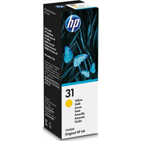 Botella de tinta amarilla Hp nº31 - contenido 70ml - 8000 páginas - compati 1VU28AE - 1VU28AE