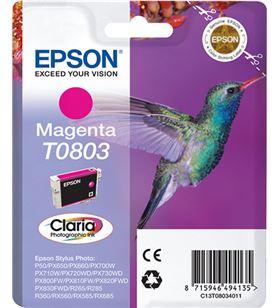 Cartucho magenta 7.4ml Epson t0803 - colibri C13T08034011 - EPS-C13T08034011