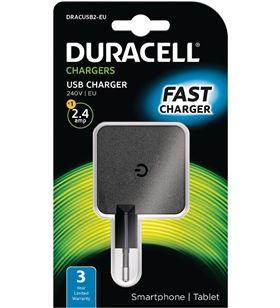 Cargador de pared Duracell DRACUSB2-EU - 1xusb - 5v - 2.4a - DRC-CARGA USB 4A