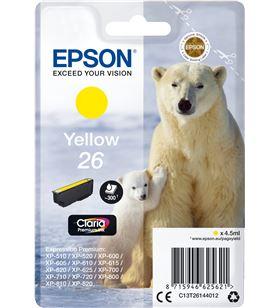 Cartucho Epson 26 4.5ml amarillo - oso polar C13T26144012 - EPS-C13T26144012