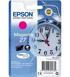 Cartucho magenta Epson 27 durabrite - 3.6ml - despertador - compatible segú C13T27034012 - EPS-C13T27034012