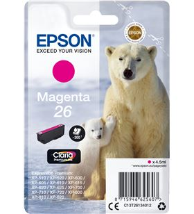 Cartucho Epson 26 4.5ml magenta -oso polar C13T26134012 - EPS-C13T26134012