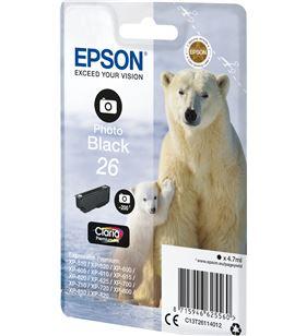 Cartucho Epson 26 4.7ml negro foto - oso polar C13T26114012 - EPS-C13T26114012