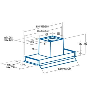 Cata campana convencional 1CORONA X 70 Campanas extractoras convencionales - CORONA X 70