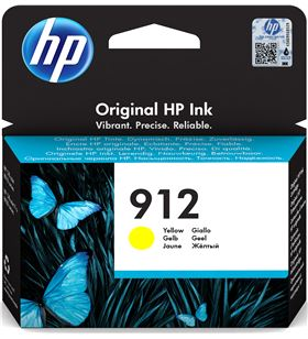 Cartucho de tinta amarillo Hp nº912 - 315 páginas aprox - compatible según 3YL79AE - 3YL79AE