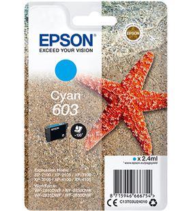 Cartucho tinta cian Epson 603 - 2.4ml - estrella mar C13T03U24010 - EPS-C13T03U24010