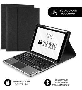 Apple funda con teclado subblim keytab pro bluetooth touchpad black - para ipad 1 sub-kt4-btpi01 - SUB-FUNDA KT4-BTPI01