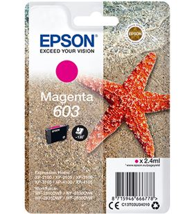 Cartucho tinta magenta Epson 603 - 2.4ml - estrella mar C13T03U34010 - EPS-C13T03U34010