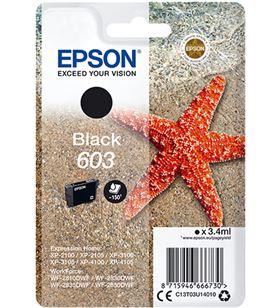 Cartucho tinta negro Epson 603 - 3.4ml - estrella mar C13T03U14010 - EPS-C13T03U14010