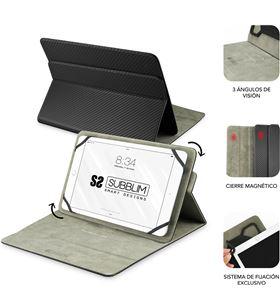 Sihogar.com funda universal subblim rotate 360º para tablet hasta 10.1''/25.6cm black - sub-cut-3re001 - SUB-FUNDA CUT-3RE001