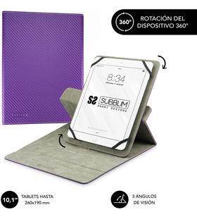 Sihogar.com funda universal subblim rotate 360º para tablet hasta 10.1''/25.6cm purple - sub-cut-3re003 - SUB-FUNDA CUT-3RE003