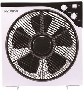 Hyundai ventilador de pie suelo HYVBF30LUX blanco y negro box fan 30cm - 8436564621559