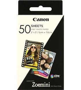 50 hojas papel fotográfico adhesivo Canon zink para zoe mini - 2*3''/5*7.6cm 3215C002 - CAN-PAPEL 3215C002