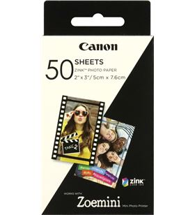 Canon 3215C002 50 hojas papel fotográfico adhesivo zink para zoe mini - 2*3''/5*7.6cm - CAN-PAPEL 3215C002