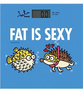 Báscula de baño Jata 294K fat is sexy - capacidad 150kg - graduacion 100g - - JAT-PAE-BAS 294K