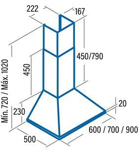 Cata campana omega 700 inox Campanas extractoras decorativas - OMEGA 700