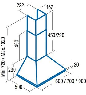 Cata campana omega 900 inox Campanas extractoras decorativas - OMEGA 900