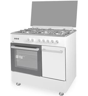 Svan cocina ancho 90 cm svk-059060gbb gas butano blanca, tapa cristal SVK0590 - 8436545142431