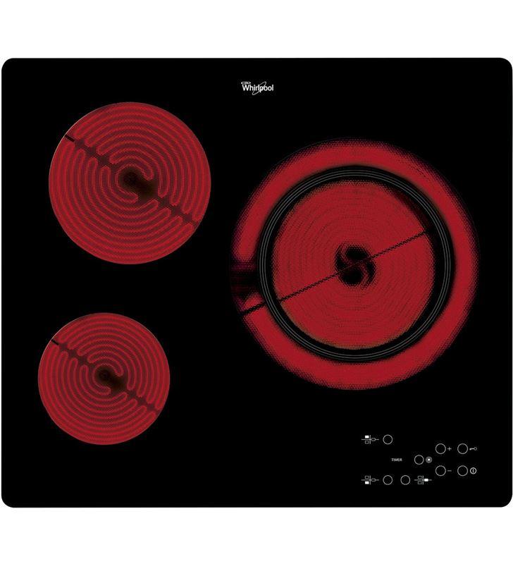 Whirlpool placa vitro AKT807/BF 3f 60cm biselada delante - AKT807-BF