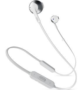 Jbl t205bt blanco plata auriculares ergonómicos con micrófono integrado con T205BT WHITE SI - +20862