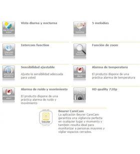 Beurer BY-88 vigilabebes baby monitor smart y vídeo - cámara hd wifi orient - 4211125952648