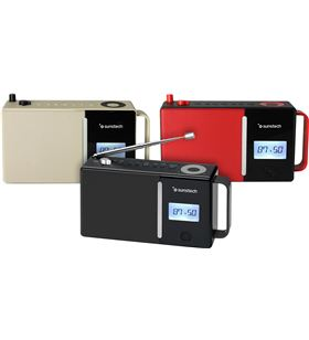 Sunstech radio portatil RPDS500RD bluetooth usb roja - RPDS500RD