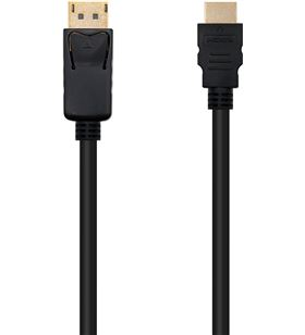 Sihogar.com cable displayport a hdmi nanocable 10.15.4303 - displayport/macho - hdmi/ma - NAN-CAB 10 15 4303