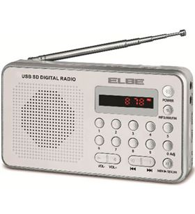Elbe RF49 radio portatil digital blanca lector tar - RF49