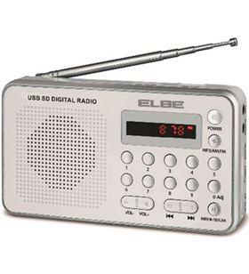 Radio portatil Elbe RF49 digital blanca lector tar - RF49