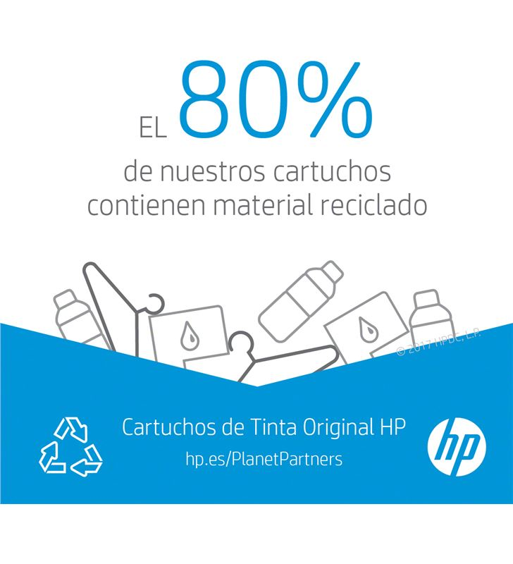 Cartucho de tinta cian Hp nº912 - 315 páginas aprox - compatible según espe 3YL77AE - 69266423_6327378603