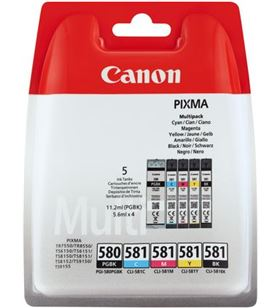 Tinta Canon pgi-580xl negra + cli-581 magenta/cyan/amarillo 2024C006 - CAN2024C006