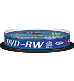 Dvd-rw Verbatim serl 4x 4.7gb tarrina 10 unidades 43552 - VERB-DVD-RW 4.7GB 10U
